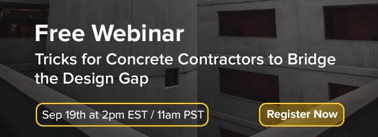 Tricks for Concrete Contractors to Bridge the Design Gap-01